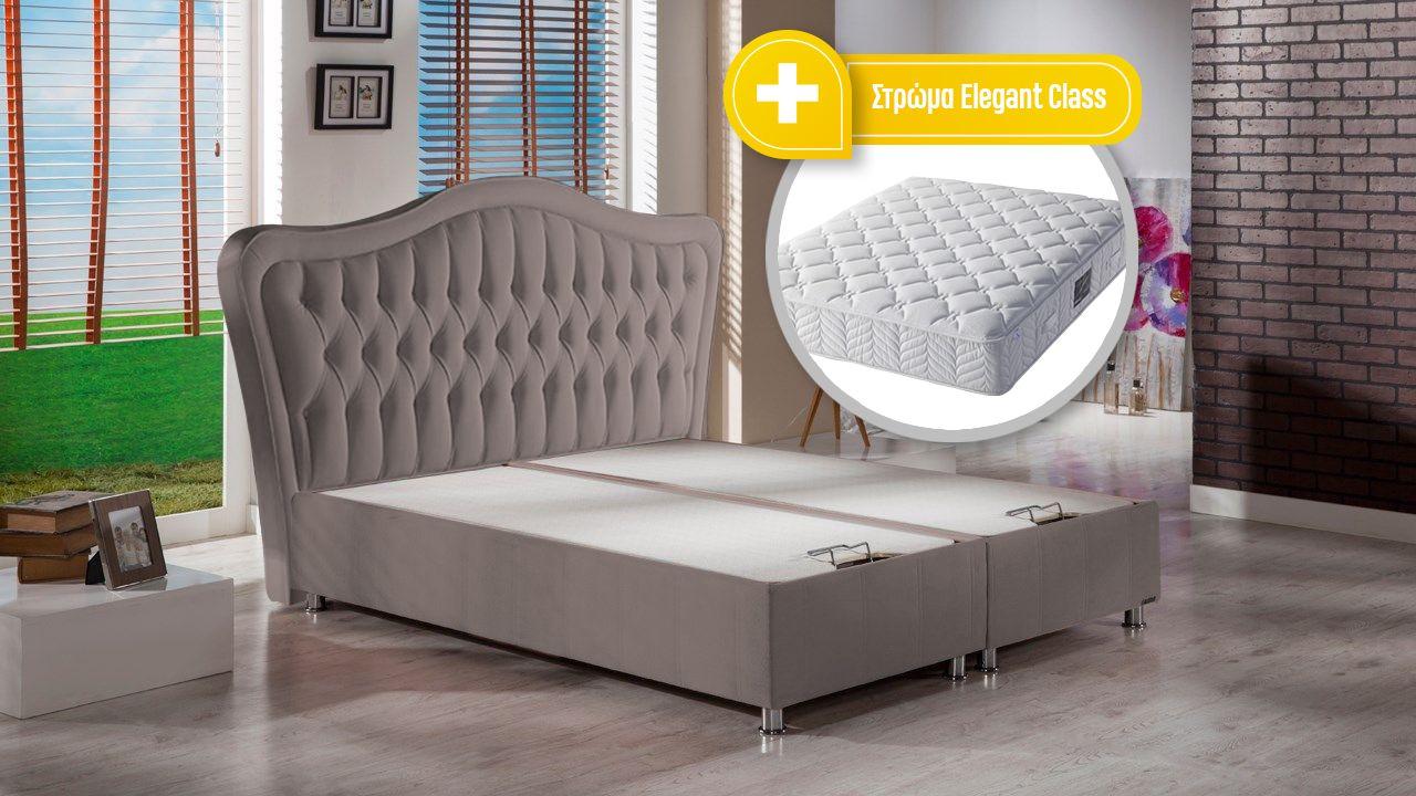Elizabeth κρεβάτι με στρώμα Elegant Class
