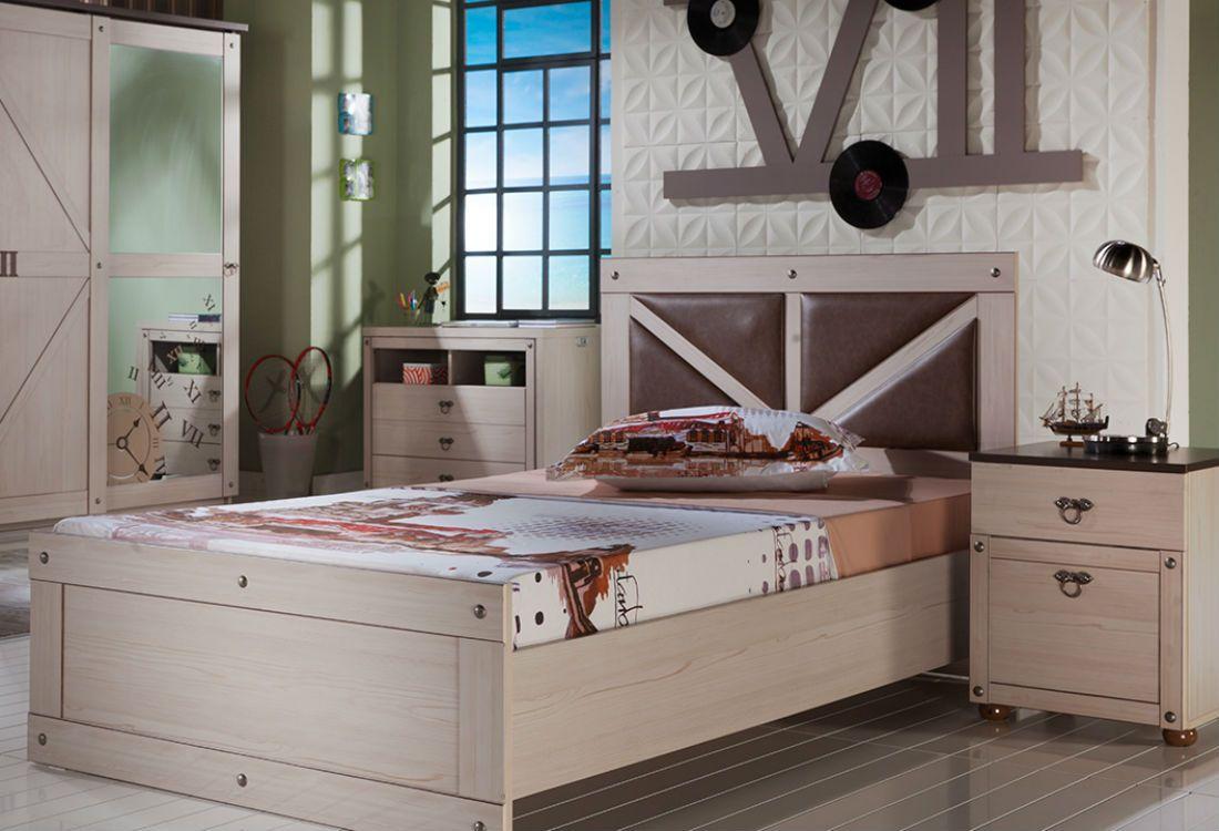Παιδικό κρεβάτι και κομοδίνο Seven