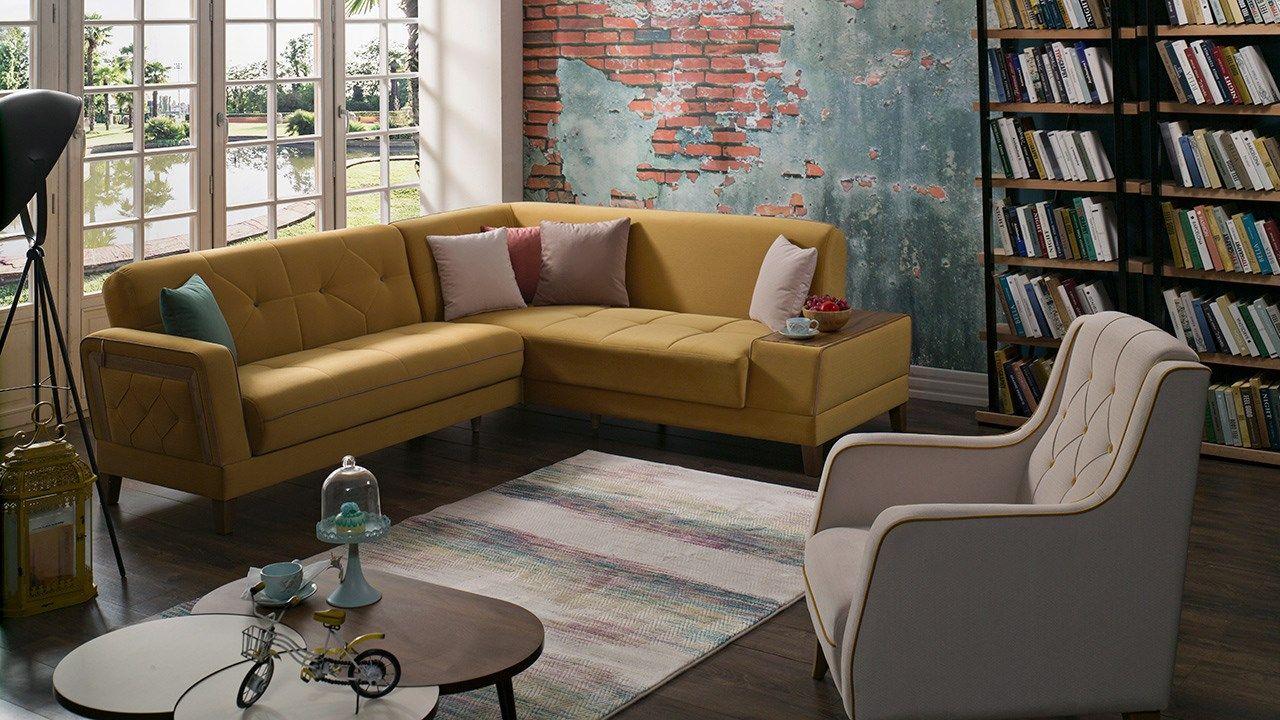 Γωνιακός καναπές Orleon