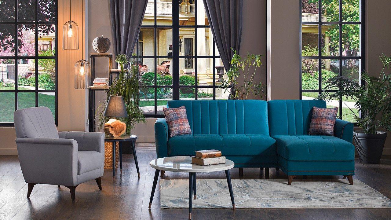 Γωνιακός καναπές Troy